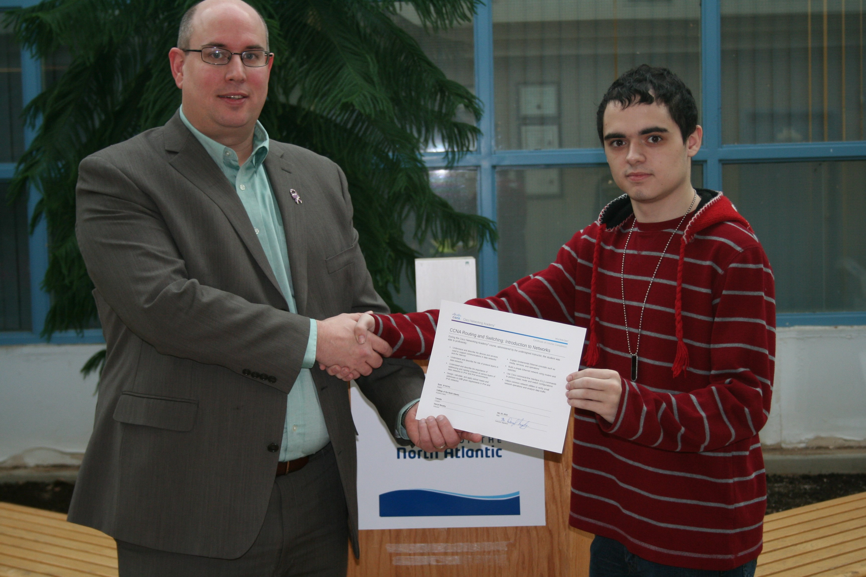 College Of The North Atlantic News Students Receive Cisco