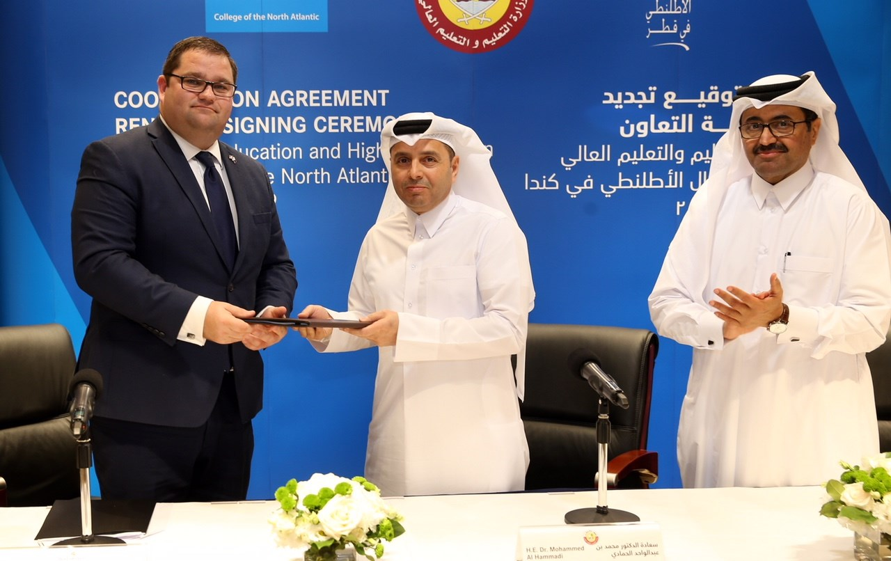 College of the North Atlantic News - CNA, State of Qatar ratify three-year agreement