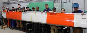 Cougar Helicopters supports NDT program with donation of main rotor blade